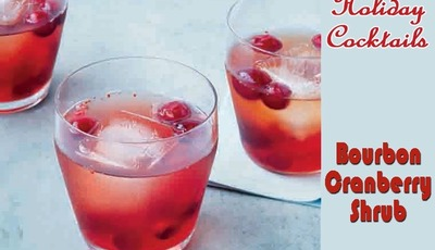 Bourbon Cranberry Shrub