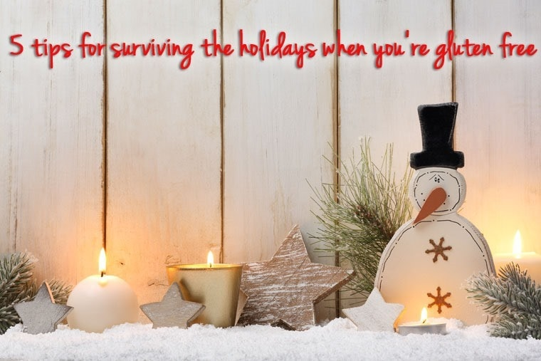 Learn 5 tips for surviving the holidays when you're gluten free at This Mama Cooks! On a Diet - thismamacooks.com