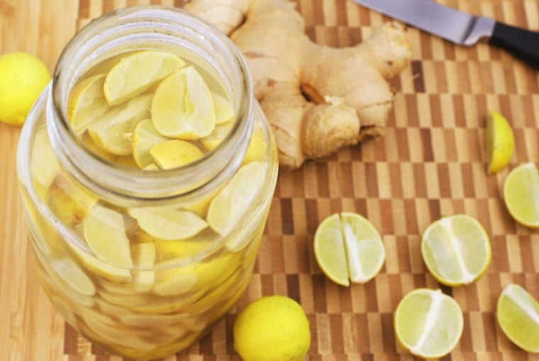 Looking for a homemade gift for your the cocktail aficionado on your gift list? Try this recipe for Ginger Lime Infused Vodka at This Mama Cooks! On a Diet - thismamacooks.com