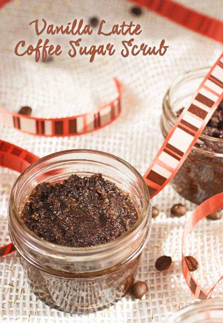 Vanilla Latte Coffee Sugar Scrub makes a great homemade gift. Get the recipe at This Mama Cooks! On a Diet - thismamacooks.com