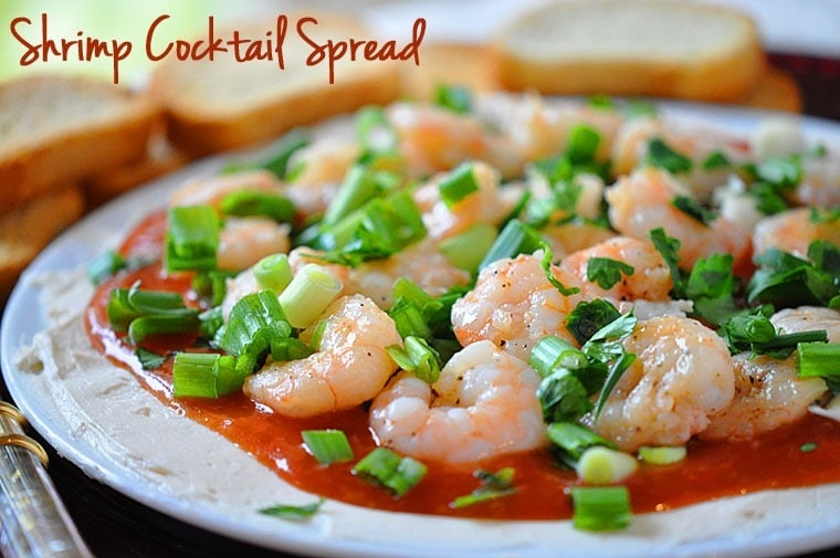 Shrimp Cocktail Spread - Get the recipe for this healthy party appetzier at This Mama Cooks! On a Diet - thismamacooks.com