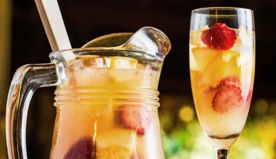 Lightened up your next party with Pinot Grigio Sangria made with Brancott Estate Flight Song wines