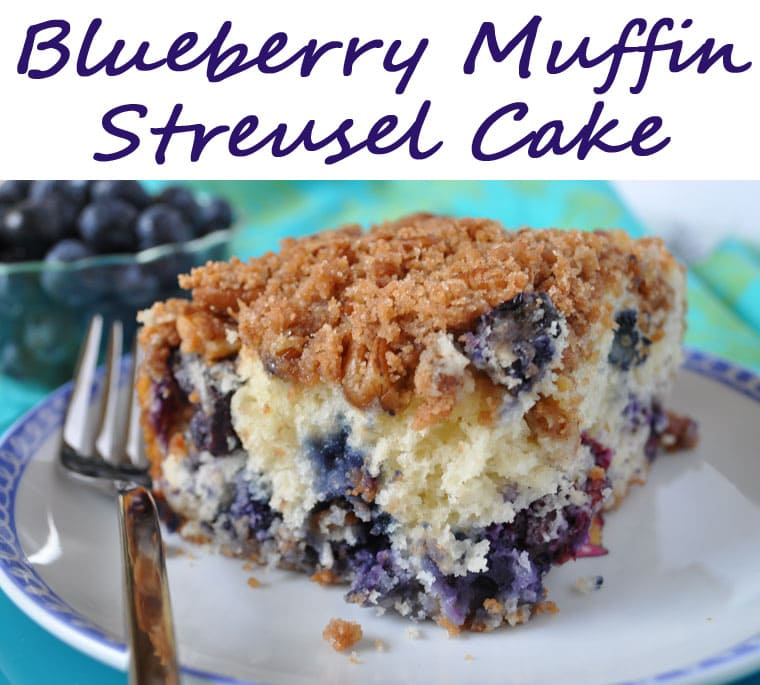 Blueberry Muffin Streusel Cake recipe at This Mama Cooks! On a Diet