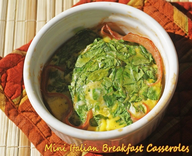 Looking for back to school breakfast ideas? Try Mini Italian Breakfast Casseroles at This Mama Cooks! On a Diet - thismamacooks.com