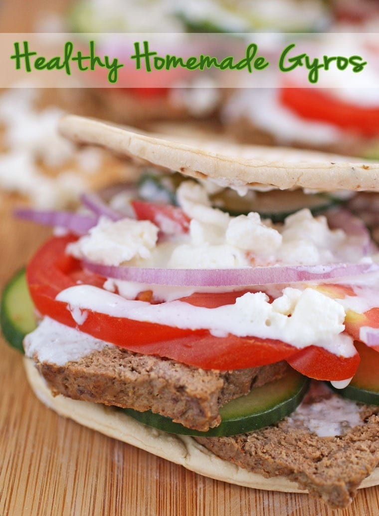 Healthy Homemade Gyros with Flatout Flatbread - Get the recipe at This Mama Cooks! On a Diet - thismamacooks.com