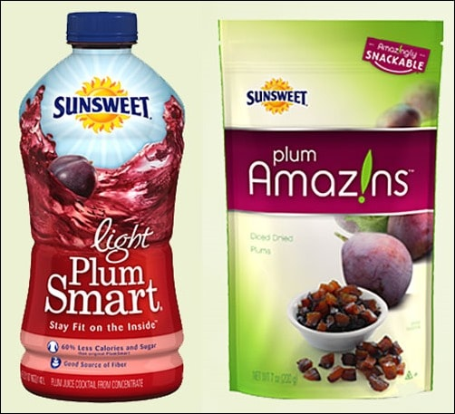 Sunsweet® PlumSmart® Light and Amaz!n™ Diced Prunes  - two ingredients used in the Plum & Banana Smoothies. Get the recipe at This Mama Cooks! On a Diet