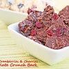 Dried Cranberries & Cherries Chocolate Crunch Bark