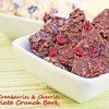 Dried Cranberries & Cherries Chocolate Crunch Bark