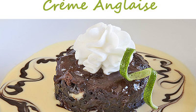 Flourless Chocolate Torte with Crème Anglaise