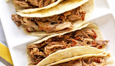 World's Best Slow Cooker Spicy Pulled Pork Tacos