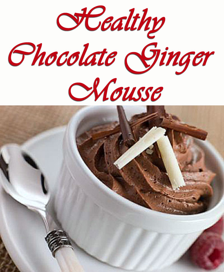 Healthy Chocolate Ginger Mousse - get this dairy free tofu dessert recipe at This Mama Cooks! On a Diet