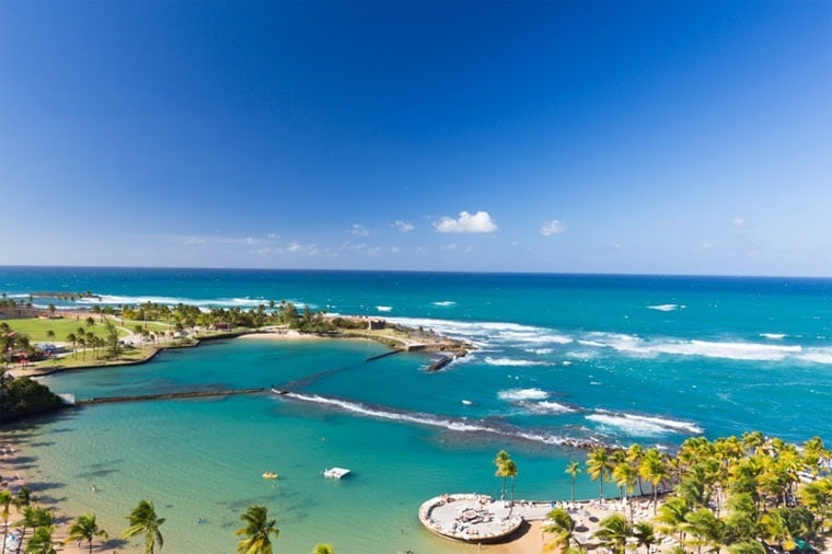 Visit the gorgeous beaches in Puerto Rico! Learn more at This Mama Cooks! On a Diet