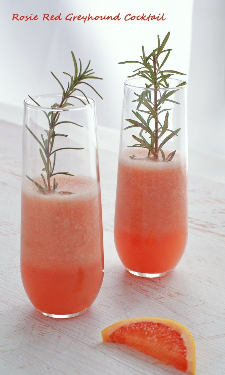 Rosie Red Greyhound Cocktail - get the recipe at This Mama Cooks! On a Diet