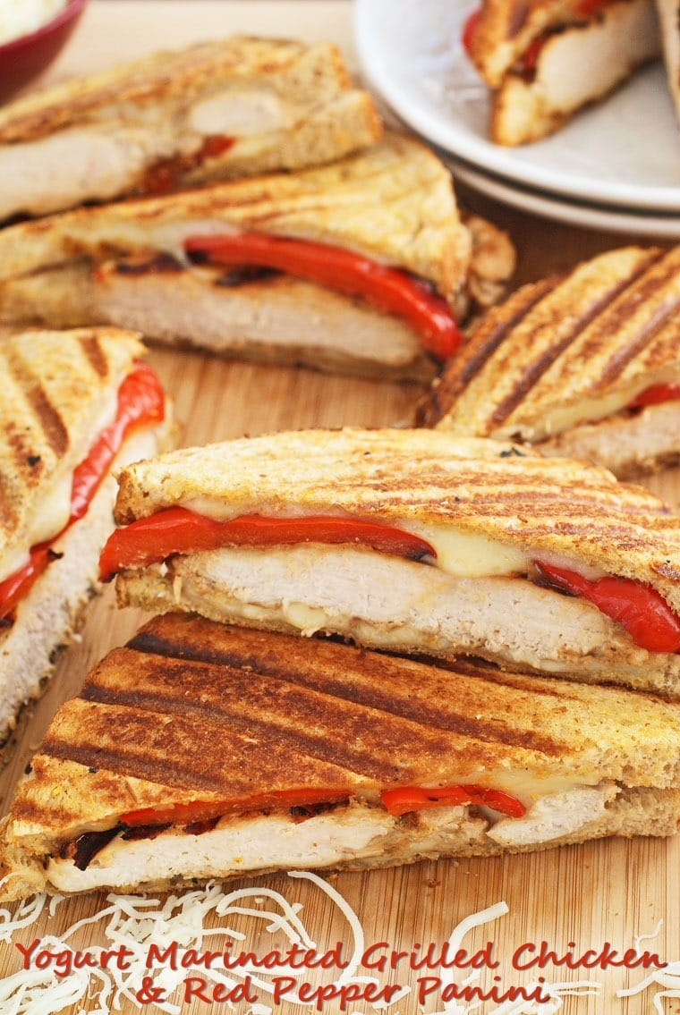 Yogurt Marinated Grilled Chicken & Red Pepper Panini. Marinate overnight and cook up this recipe in 20 minutes. Get the recipe at This Mama Cooks! On a Diet