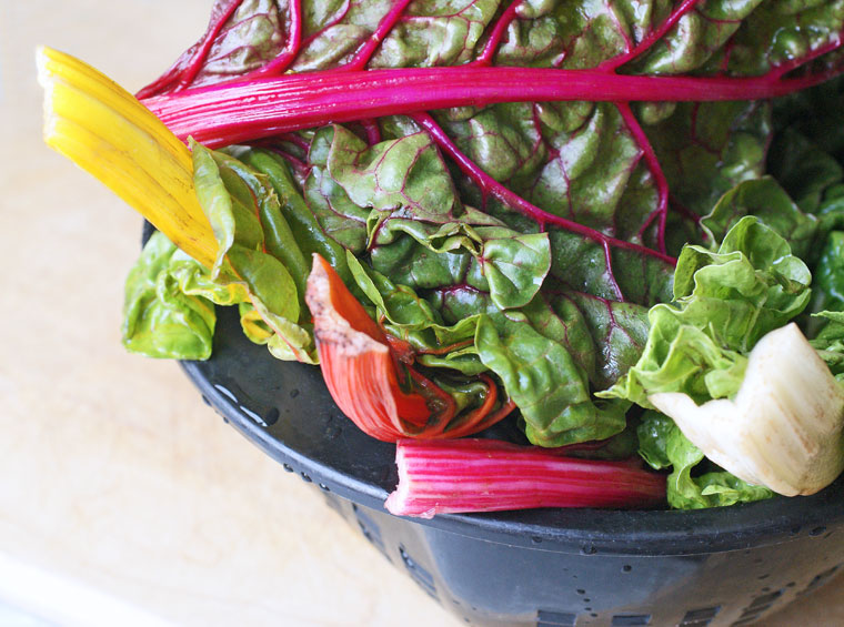 Get a healthy recipe for preparing rainbow chard at This Mama Cooks! On a Diet