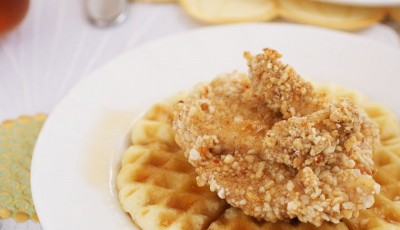Gluten Free Oven-Fried Jerk Chicken & Waffles