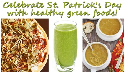 Celebrate St. Patrick's Day with healthy green foods!