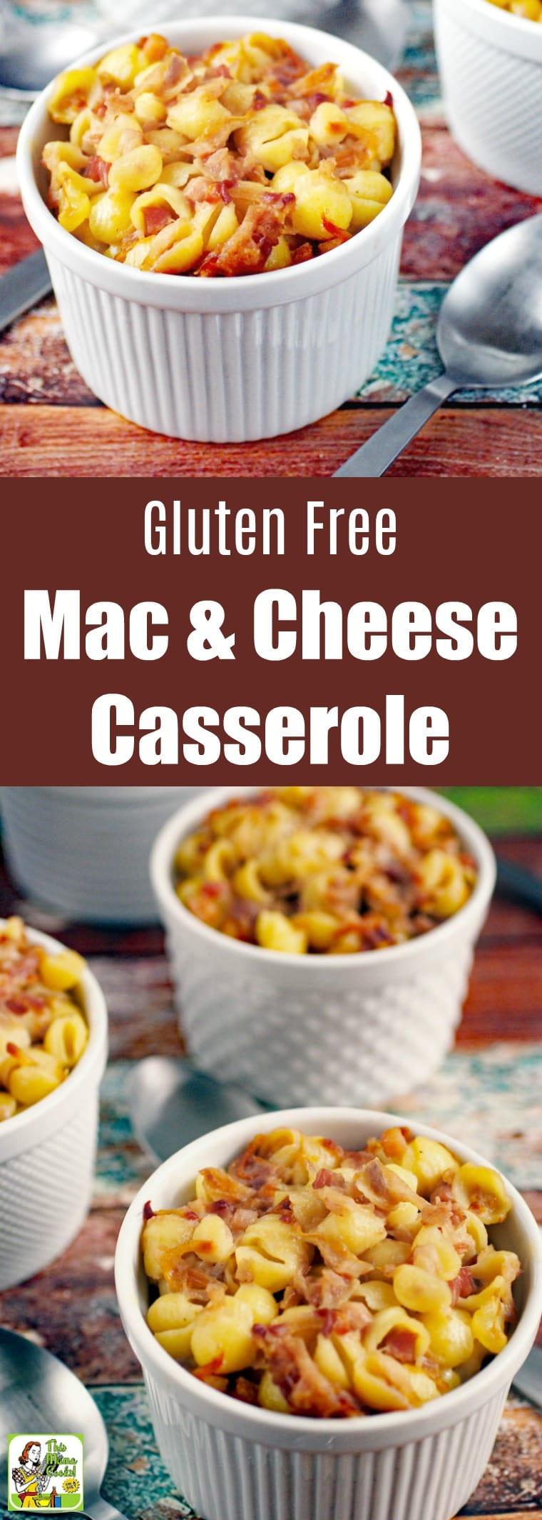 Gluten Free Mac & Cheese Casserole Recipe