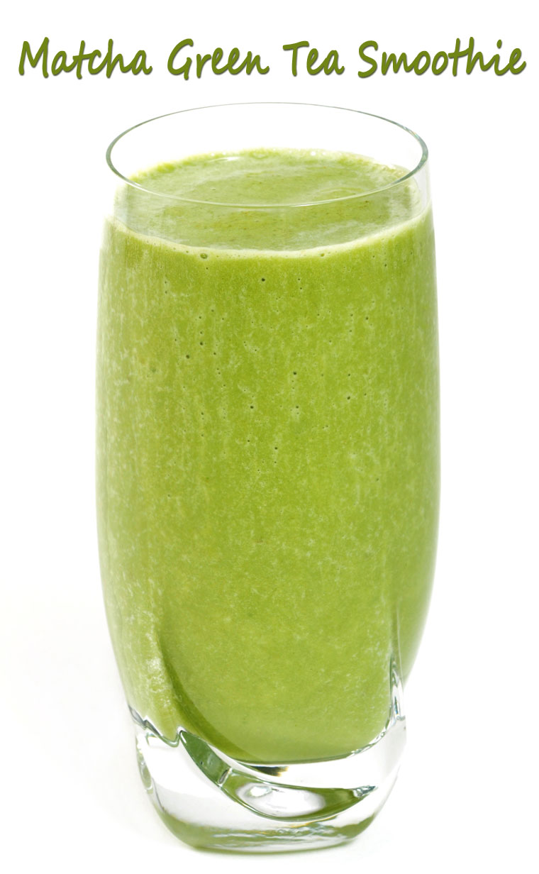 Matcha Green Tea Smoothie - Get the healthy green tea smoothie recipe at This Mama Cooks! On a Diet