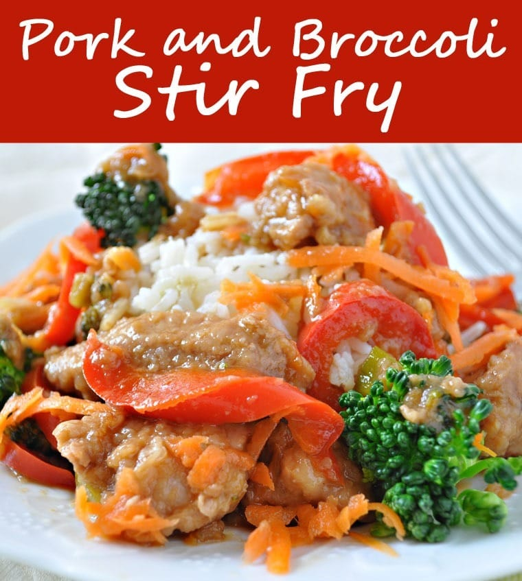 Healthy Pork and Broccoli Stir Fry one pot recipe at This Mama Cooks! On a Diet