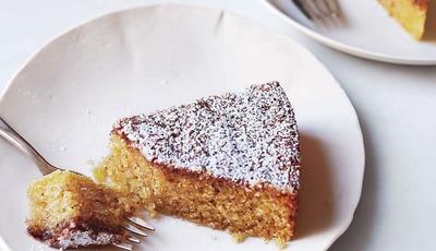 Gluten Free Lemon Cornmeal Cake