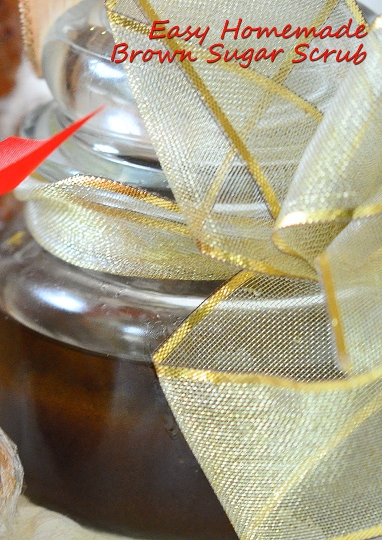 Easy Homemade Brown Sugar Scrub - Get the handmade gift recipe at This Mama Cooks! On a Diet