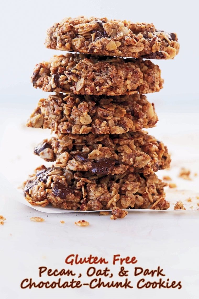 Gluten free pecan oat and dark chocolate chunk cookies this mama get the recipe for gluten free pecan oat and dark chocolate chunk cookies forumfinder Images