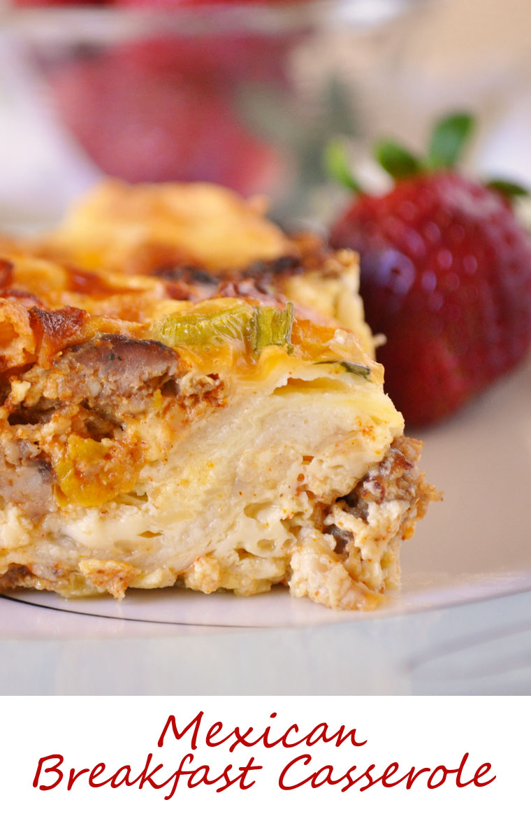 Mexican Breakfast Casserole. Get this easy to make and healthy brunch recipe at This Mama Cooks! On a Diet. Perfect for Mother's Day!