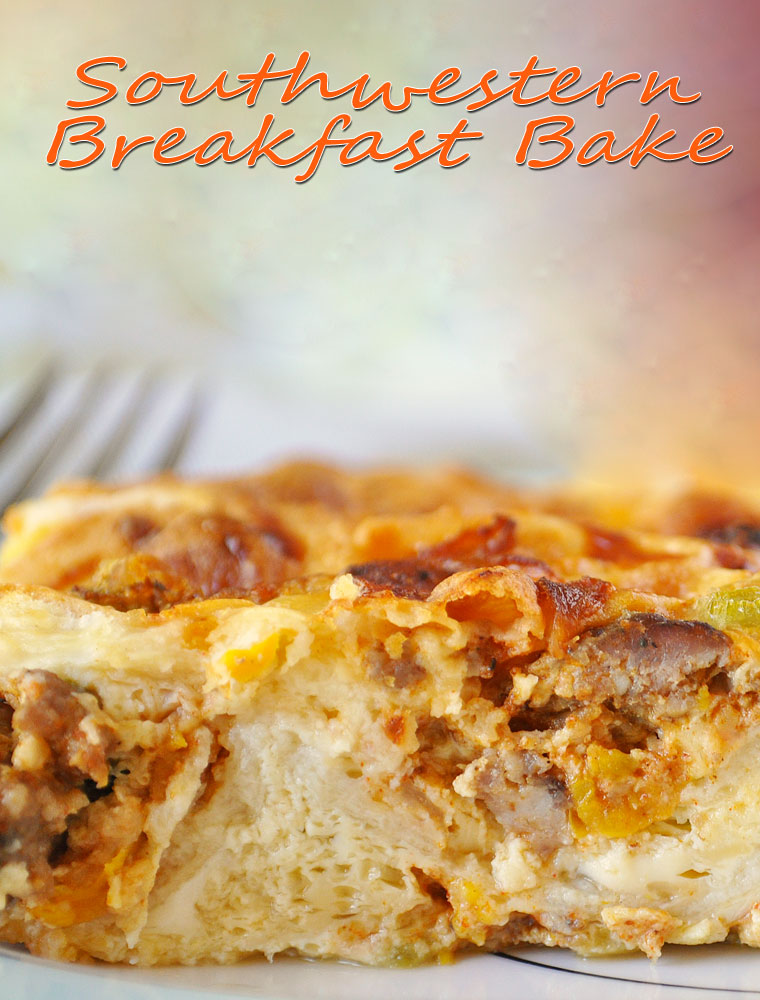 Southwestern Breakfast Bake. Get this healthy breakfast casserole recipe at This Mama Cooks! On a Diet