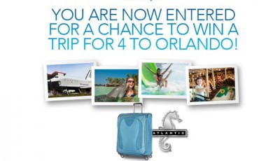Win a Trip to Orlando Florida from Atlantic Luggage