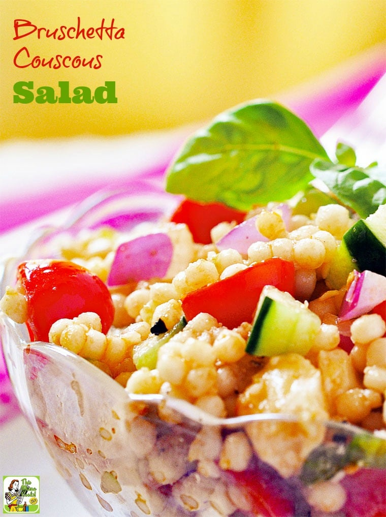 Bruschetta Couscous Salad Recipe Click To Get This Couscous Vegetable Salad It S An Easy