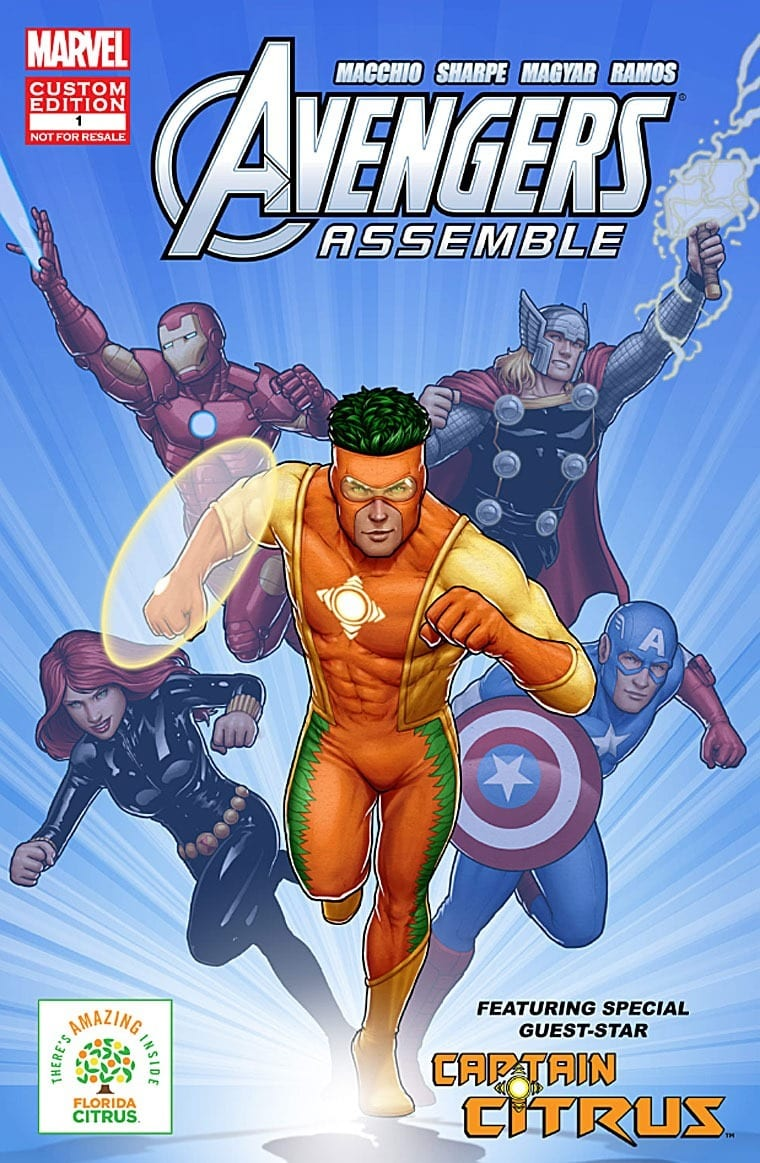 Captain Citrus and the Amazing 5 benefits of 100% Florida Orange Juice. Learn more at This Mama Cooks! On a Diet