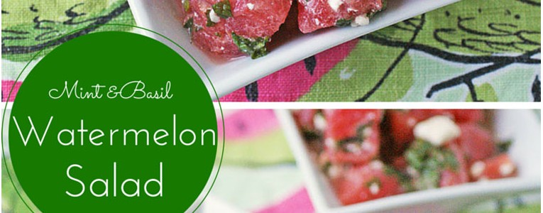 Mint & Basil Watermelon Salad with Feta