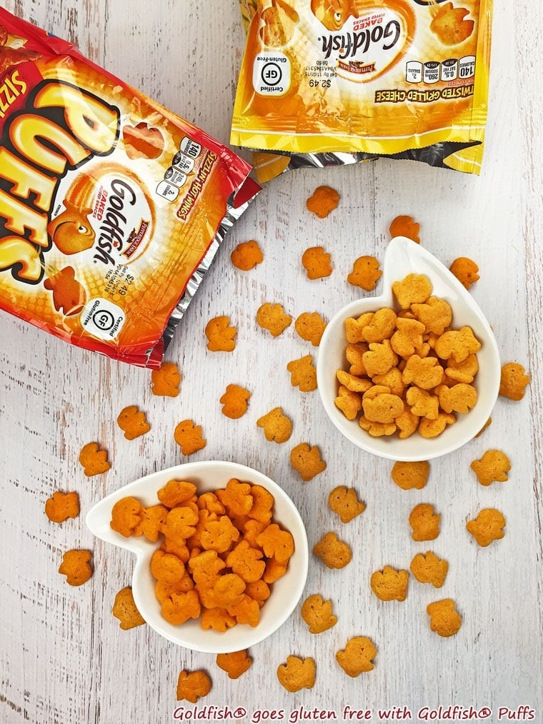 Goldfish® goes gluten free with Goldfish® Puffs. Learn more at This Mama Cooks! On a Diet