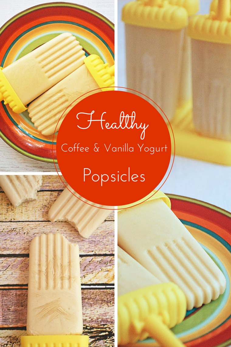 Easy to make Healthy Coffee & Vanilla Yogurt Popsicles at This Mama Cooks! On a Diet