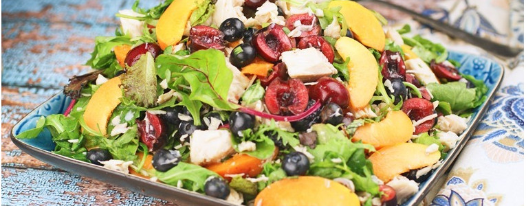 Chicken Salad with Blueberries, Cherries & Apricots
