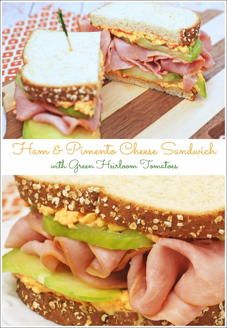 Try this ham and cheese sandwch recipe based on three classic Southern favorites: pimento cheese, ham, and green tomatoes! Can be made gluten free, too. From This Mama Cooks! On a Diet