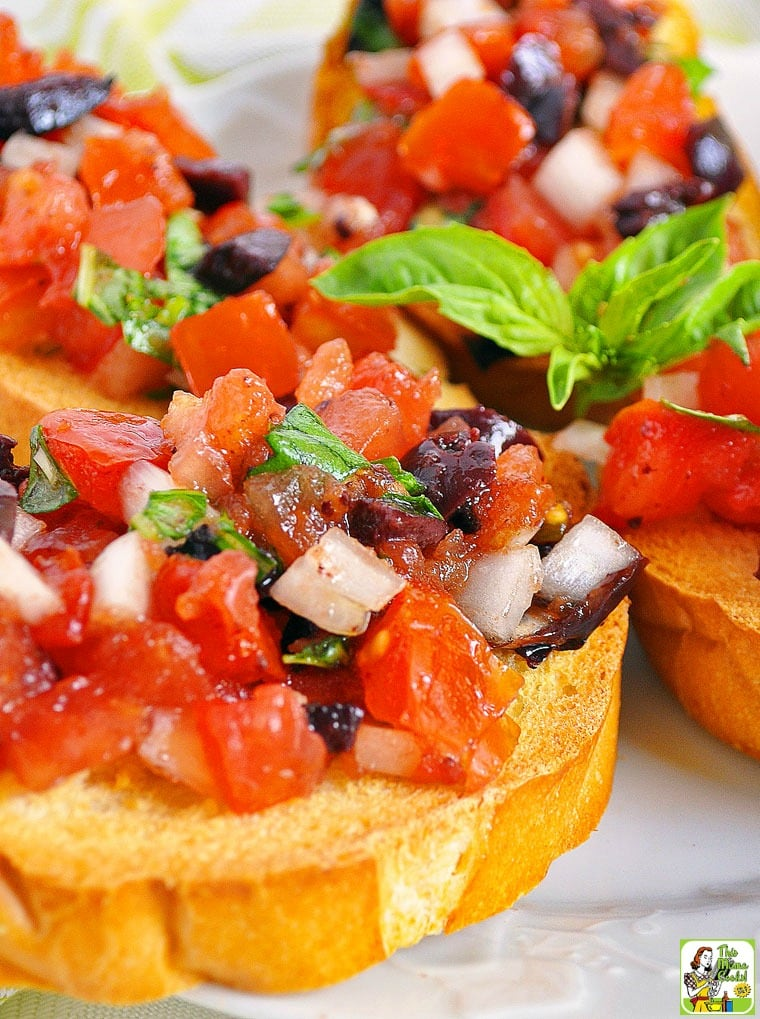 Make this easy tomato bruschetta appetizer at your next party