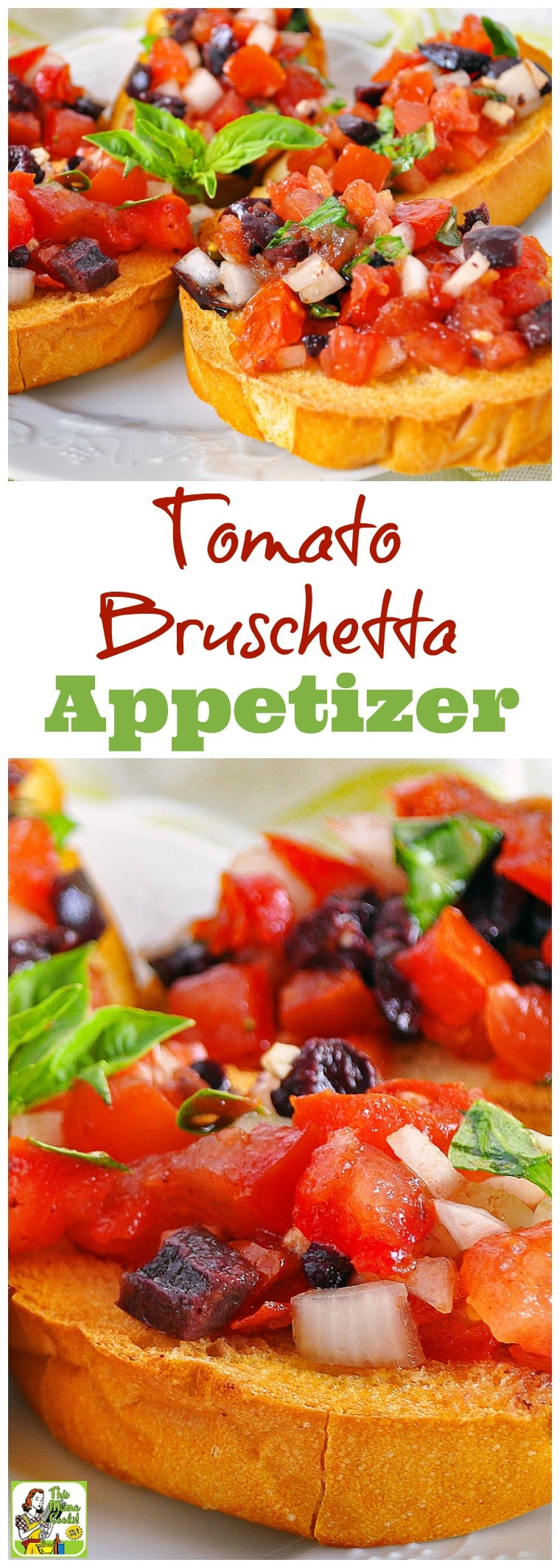 Need a delicious and healthy appetizer recipe for your next party? Click for an easy tomato bruschetta appetizer recipe! Comes with a gluten free option to make with gluten free crackers or bread. Diabetic friendly and a healthy and delicious party snack!