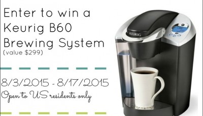 Back to School Keurig B60 Giveaway (value $299)