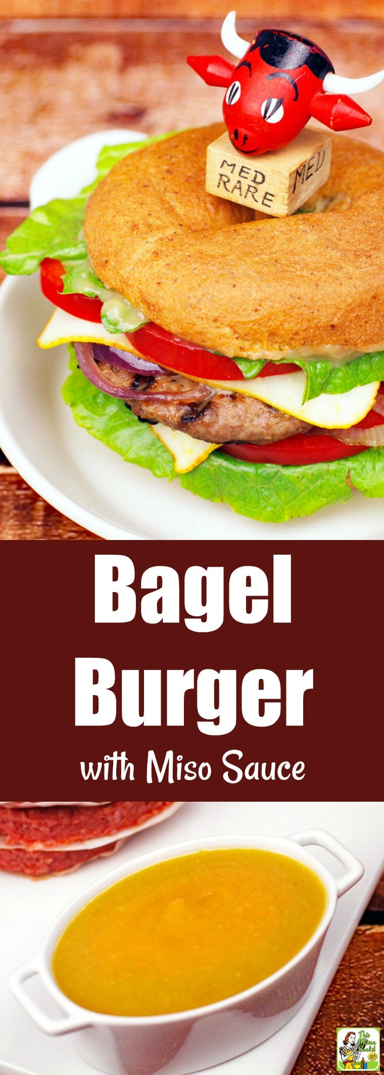 Bagel Burger with Miso Sauce