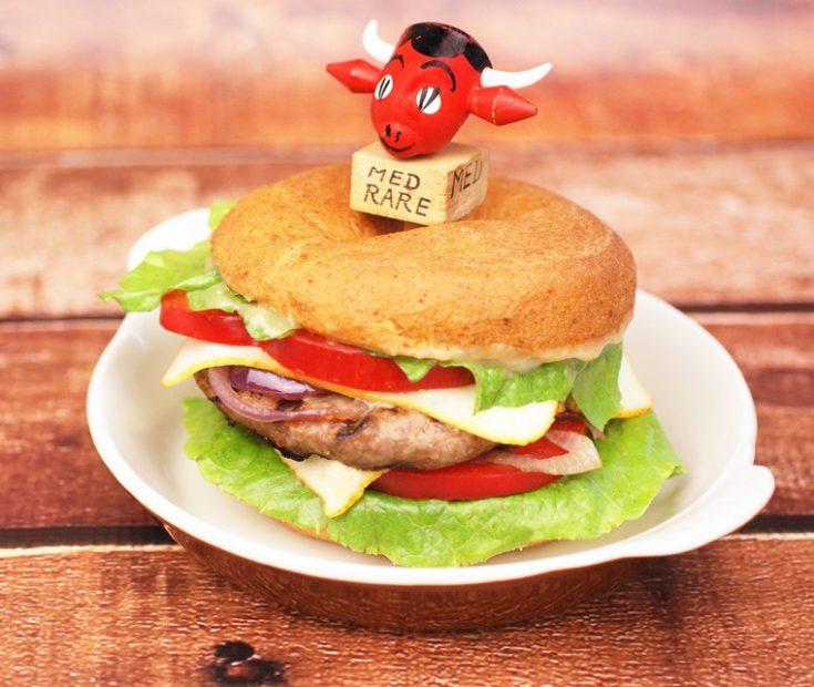 Bagel Burger with Miso Sauce Recipe