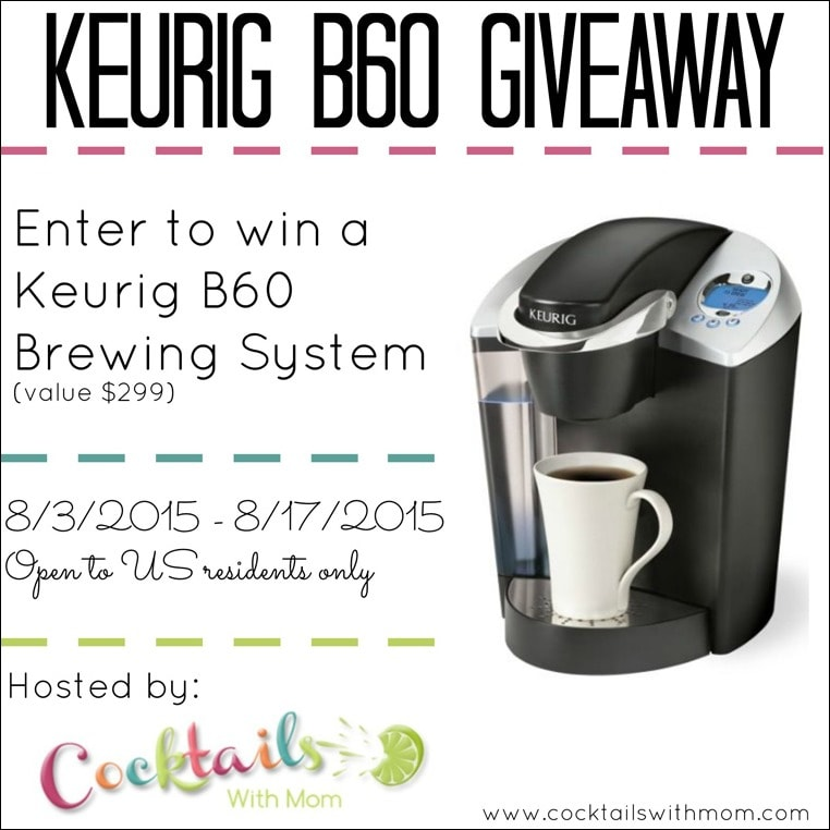Enter to win a Keurig B60 Special Edition Brewing System. Get the details at This Mama Cooks! On a Diet