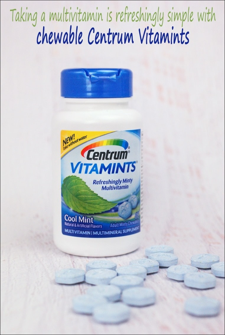 Taking a multivitamin is refreshingly simple with chewable Centrum® Vitamints® - Learn more at This Mama Cooks! On a Diet #CentrumVitaMints #ad