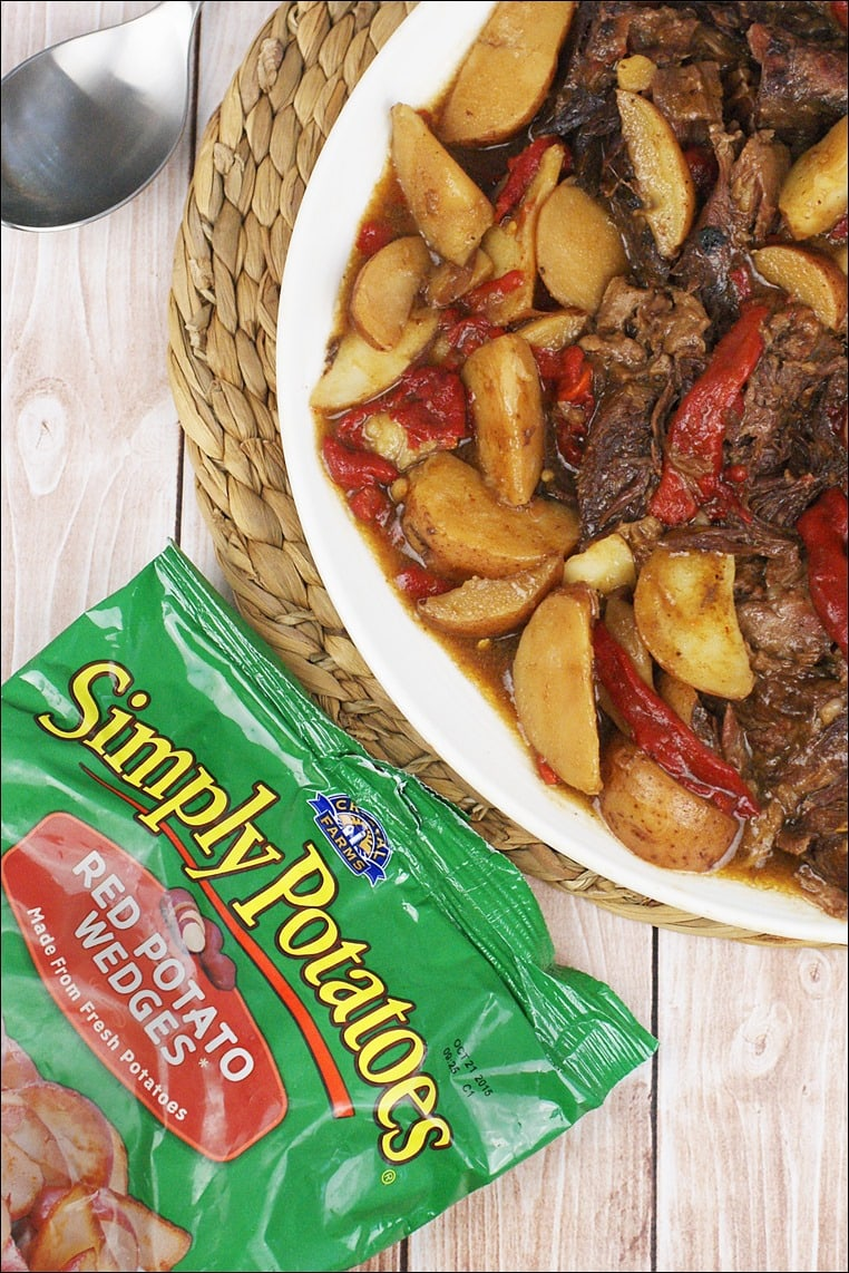 Make your side dish of Simply Potatoes red potato wedges along with your Gluten Free Slow Cooker Pot Roast recipe. Super easy and the only preparation is to open the bag and pour!