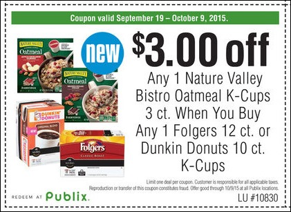 Use this Nature Valley Bistro Cup Oatmeal Publix Coupon to get $3 off your purchase!