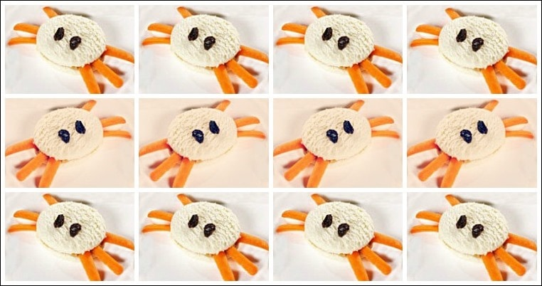 Creepy Crawlers Sandwiches for Halloween. Get this healthy snack recipe for kids at This Mama Cooks! On a Diet
