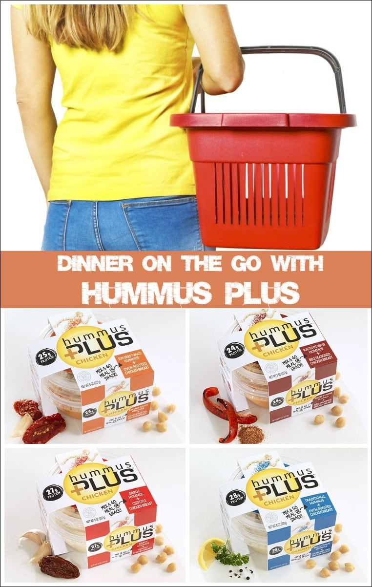 Dinner (and More!) On the Go with Hummus Plus. Learn about the convenience of Hummus Plus delicious combination of hummus and chicken at This Mama Cooks! On a Diet