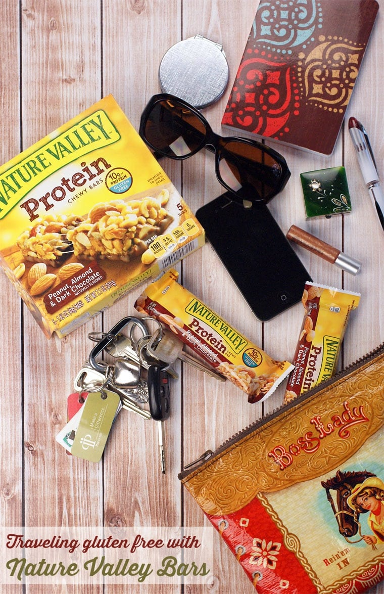 Traveling gluten free with Nature Valley Bars. Learn more gluten free travel tips at This Mama Cooks! On a Diet