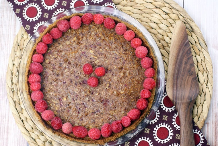 Gluten Free Raspberry Pecan Pie. Get the recipe at This Mama Cooks! On a Diet